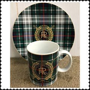 Ralph Lauren Plaid Plate Mug Set